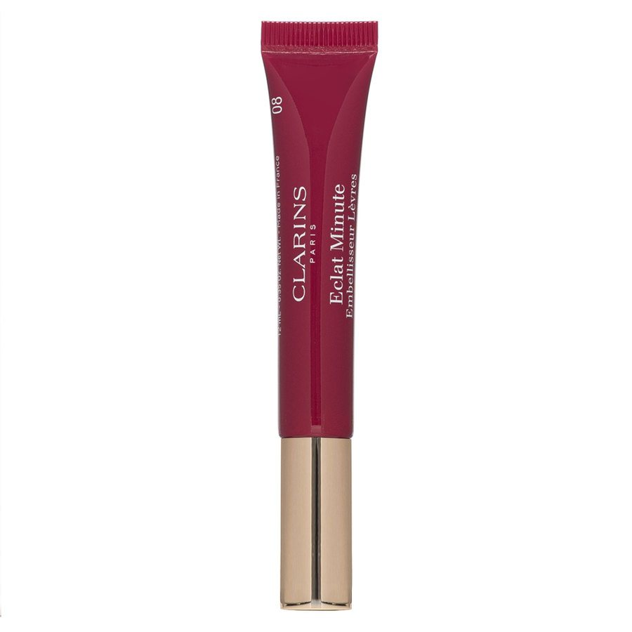 Clarins Instant Light Natural Lip Perfector, #08 Plum Shimmer (12 ml)