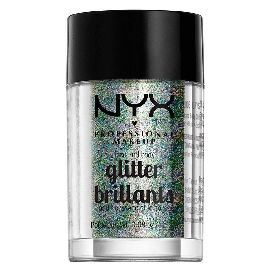 NYX Professional Makeup Face And Body Glitter Brilliants, Crystal GLI06 (2,5g)