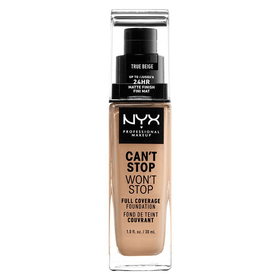 NYX Can't Stop Won't Stop Full Coverage Foundation 30ml, True Beige
