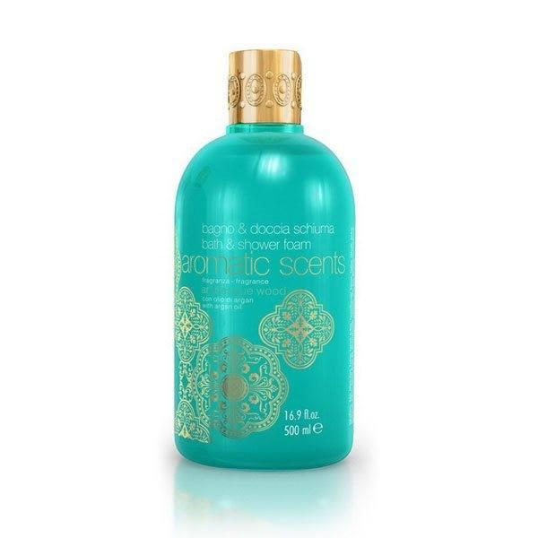 Aromatic Scents, Bath & Shower Foam With Argan Oil – Duschgel, Arabesque Wood (500 ml)
