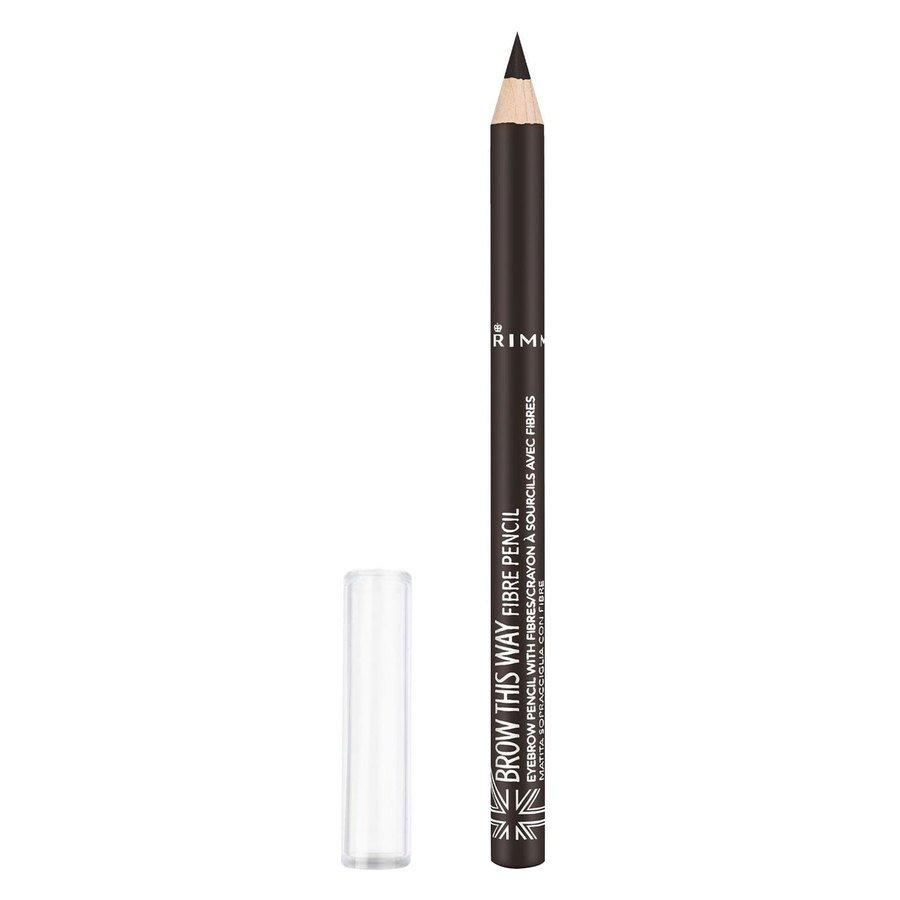 Rimmel London Brow This Way Fibre Pencil, # 003 Dark Brown (1 g)