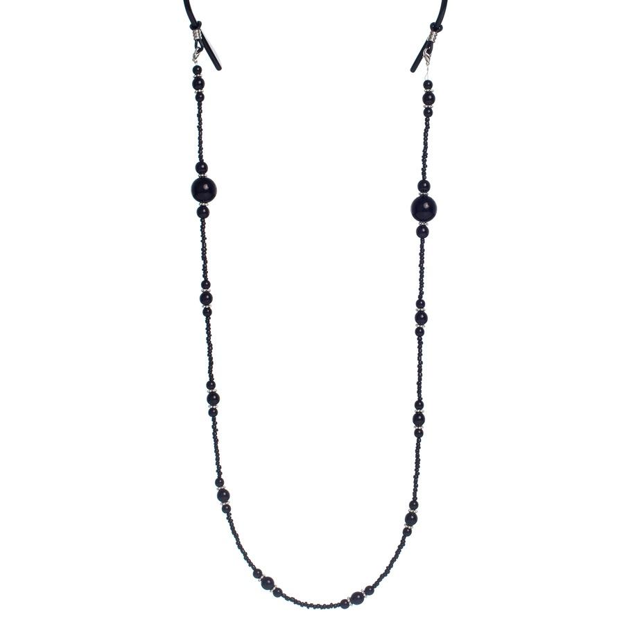 Shelas Eyeglasses Cord – Brillenkette, schwarz G003