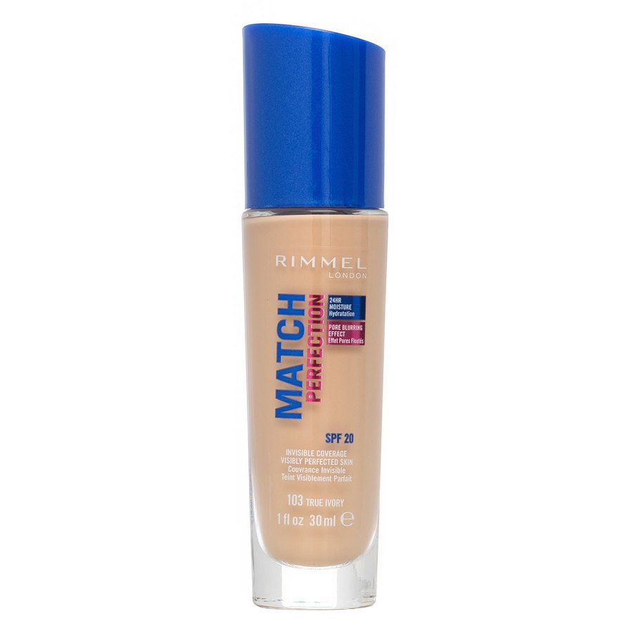 Rimmel Match Perfection Foundation, True Ivory (30 ml)