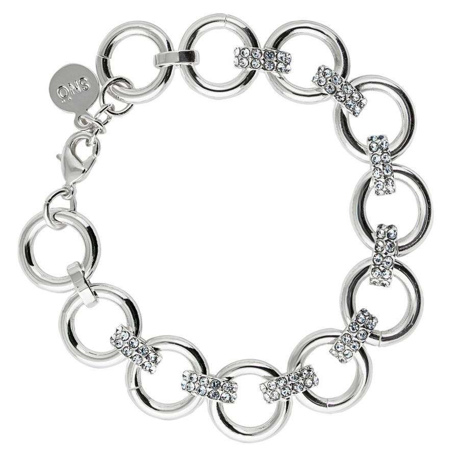 Snö of Sweden Adara Bracelet, Silver/Clear