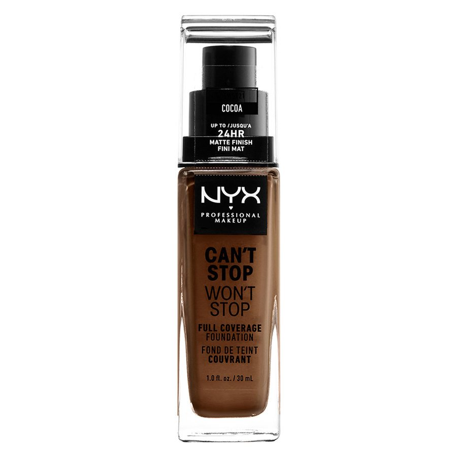 NYX Professional Makeup Can't Stop Won't Stop Full Coverage Foundation (30 ml), Cocoa