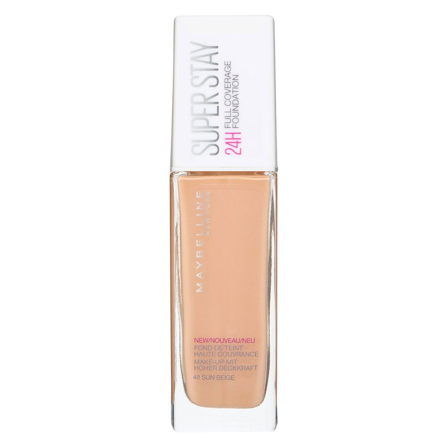 Maybelline Super Stay 24 h Full Coverage Foundation, 48 Sun Beige (30 ml)