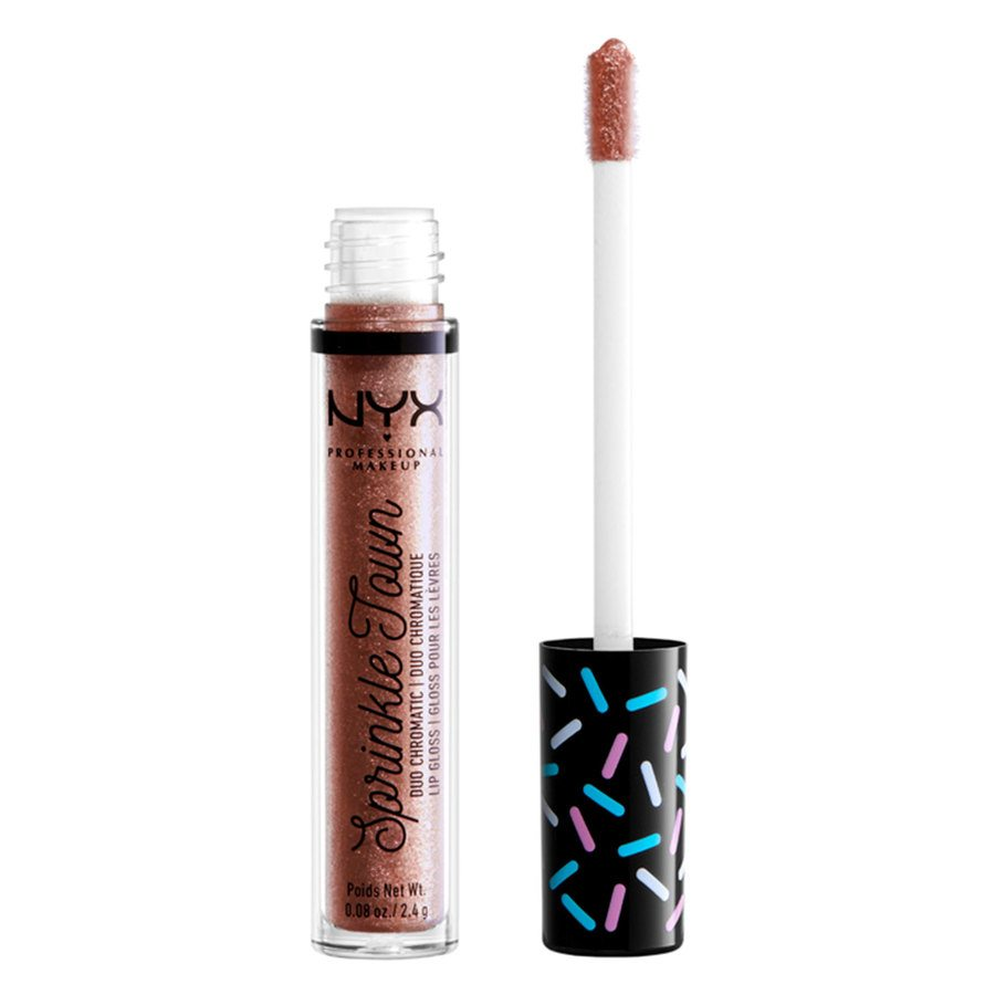 NYX Professional Makeup Sprinkle Town Duo Chromatic Lip Gloss, 01 Shimmer Cravings (2,4 g)