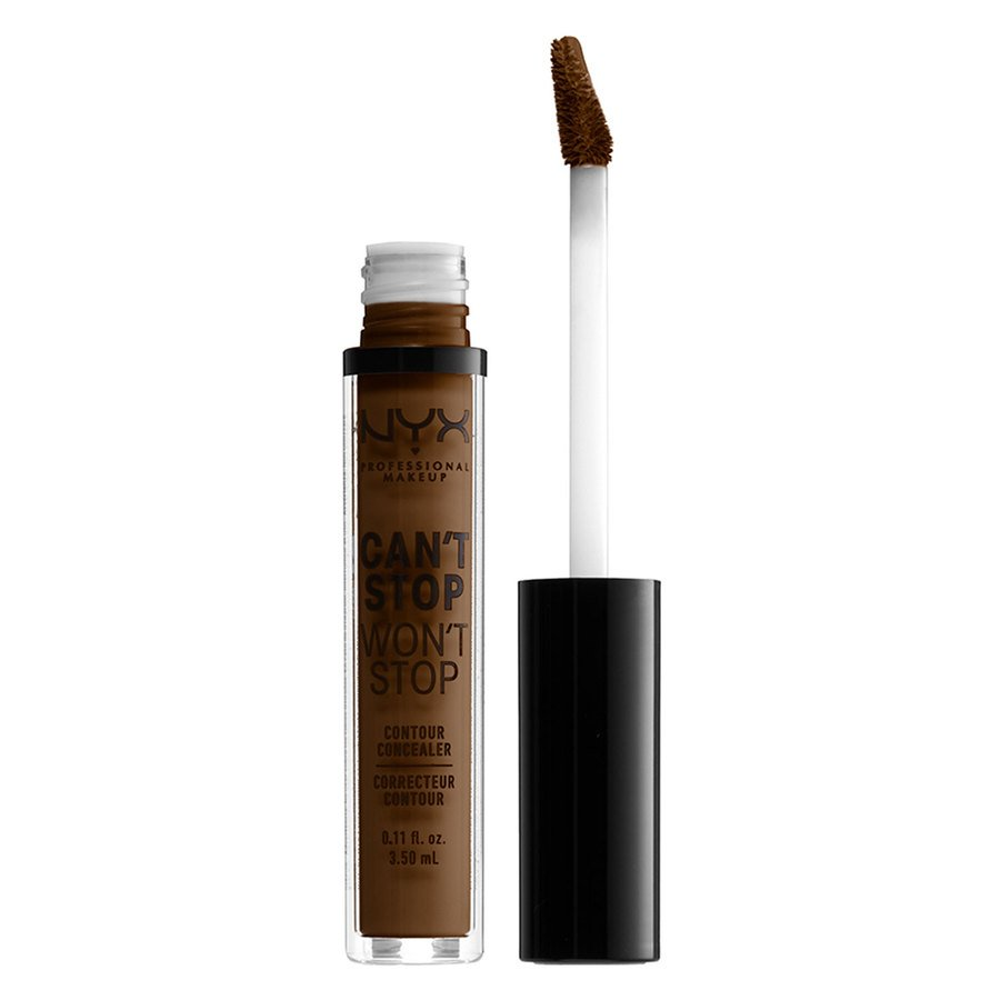 NYX Professional Makeup, Can't Stop Won't Stop Contour Concealer Walnut (3,5 ml)