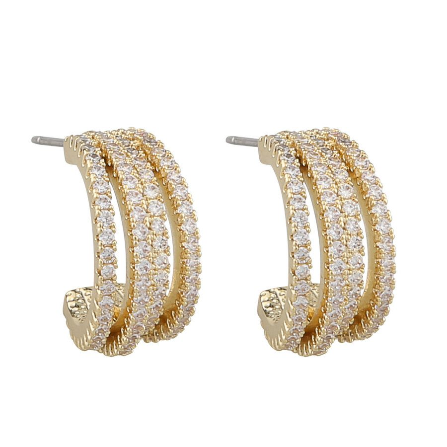 Snö Of Sweden Clarissa Small Wide Oval Ear gold / clear