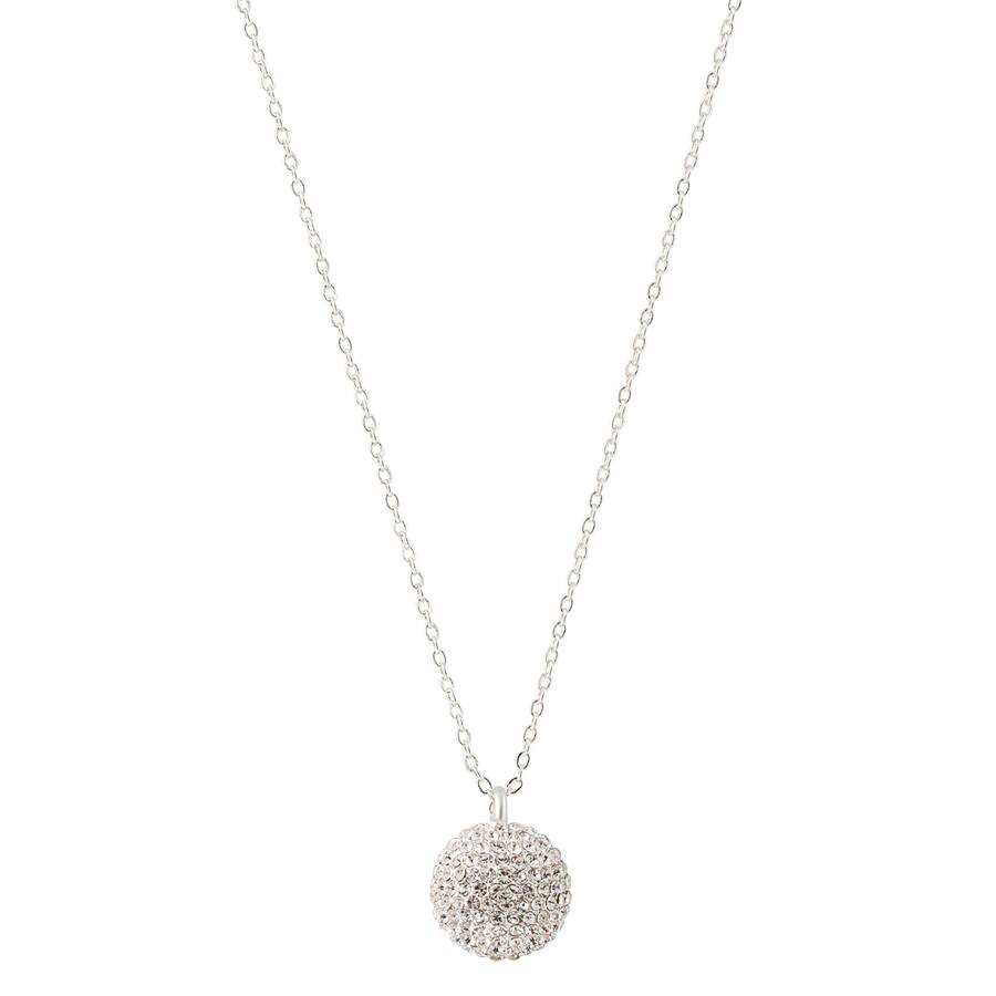 Snö of Sweden Fair Pendant Necklace, Silver/Clear