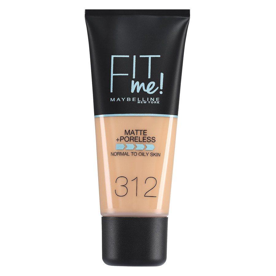 Maybelline Fit Me Matte + Poreless Foundation, Golden (30 ml)
