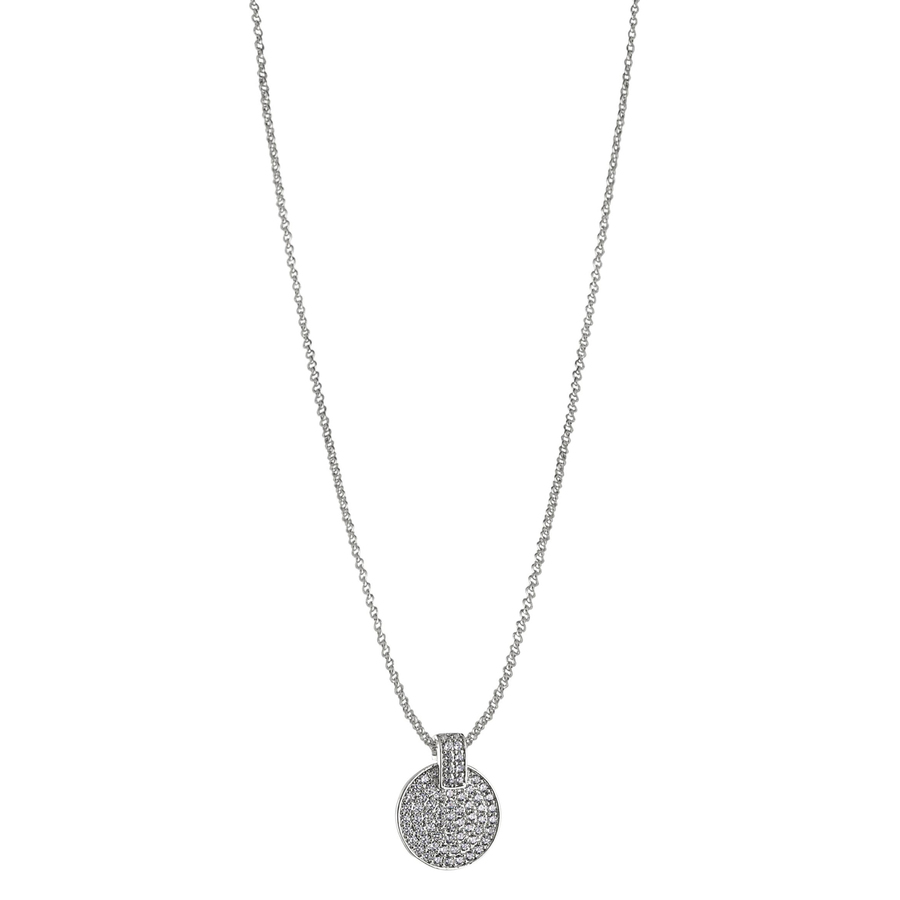 Snö of Sweden Carrie Pendant Neckless, Silver/Clear