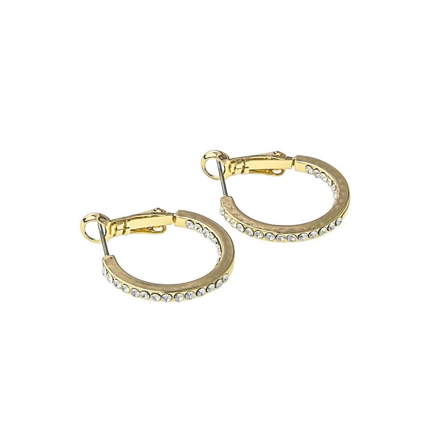 Snö Of Sweden Story Small Ring Earring, Gold/Clear