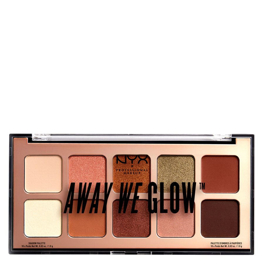 NYX Professional Makeup Away We Glow Shadow, Shade 02 Hooked On Glow (10x1,0 g)