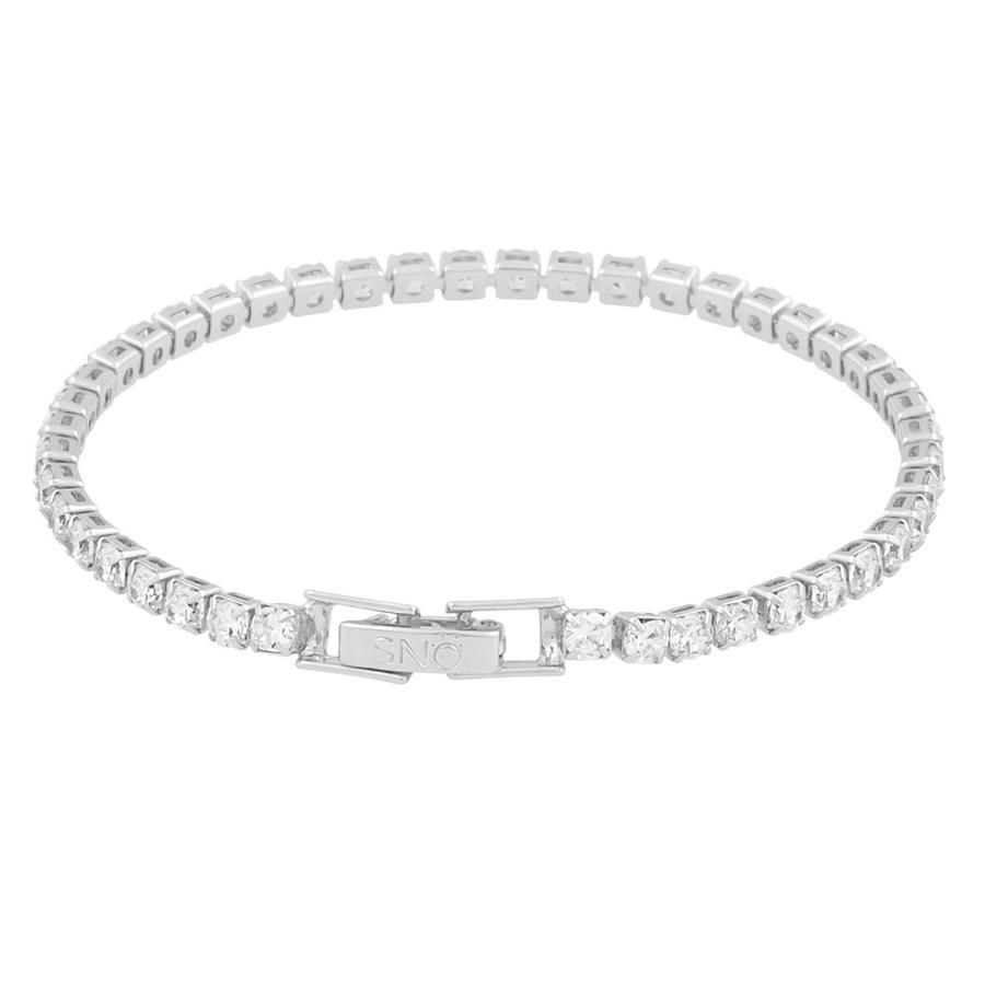 Snö Of Sweden Siri Stone Bracelet, Silver/Clear