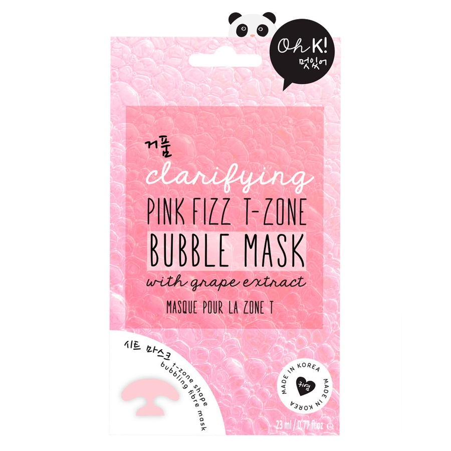 Oh K! Clarifying Pink Fizz T-Zone Bubble Mask (23 ml)