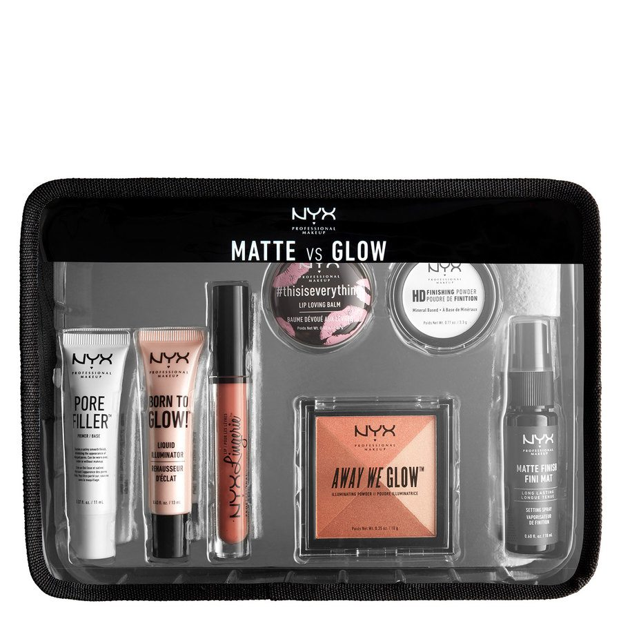 NYX Professional Makeup Matte vs. Glow Jet Set Travel Kit