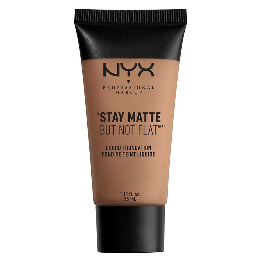 NYX Professional Makeup Stay Matte But Not Flat Liquid Foundation, Chestnut (35 ml)