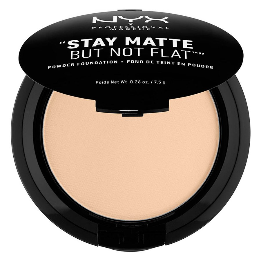 NYX Prof. Makeup Stay Matte But Not Flat Powder Foundation, Nude