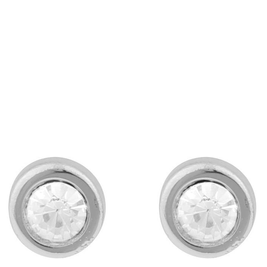 Snö Of Sweden Keira Small Stone Earring, Silver/Clear
