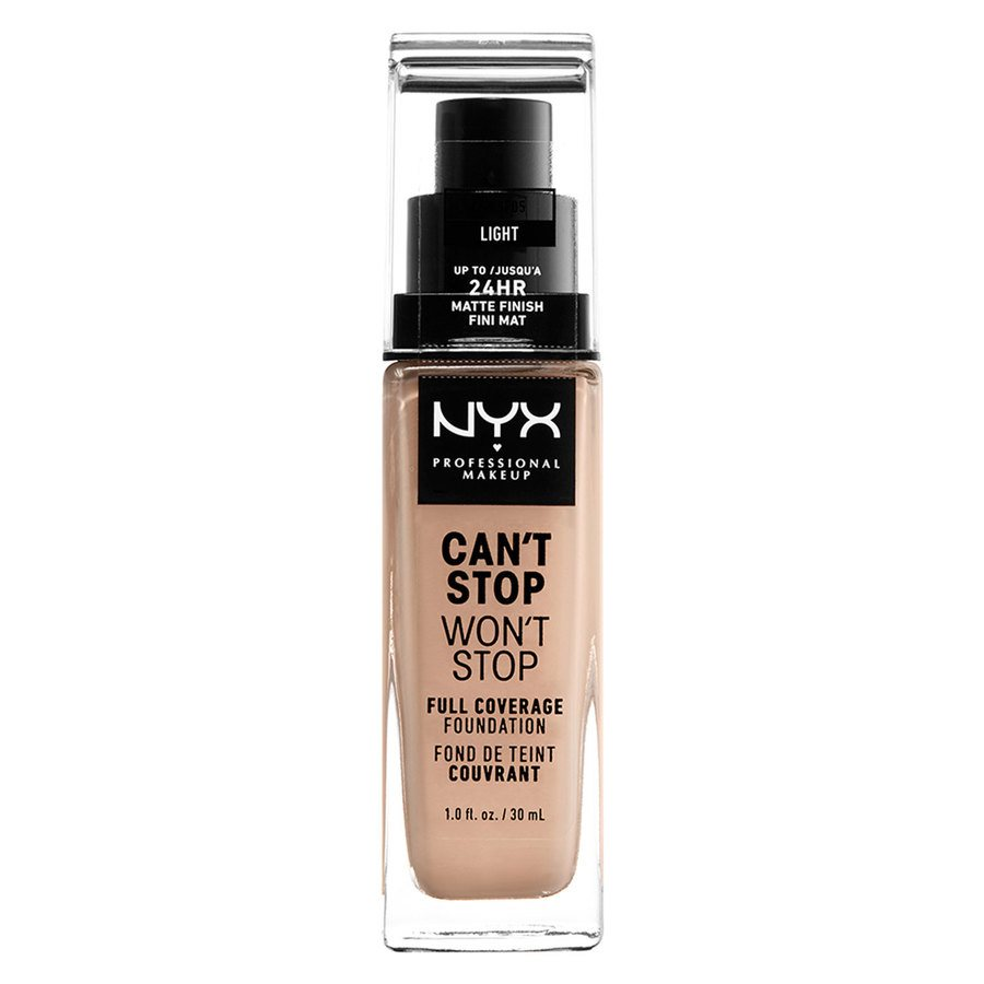 NYX Professional Makeup Can't Stop Won't Stop Full Coverage Foundation (30 ml), Light