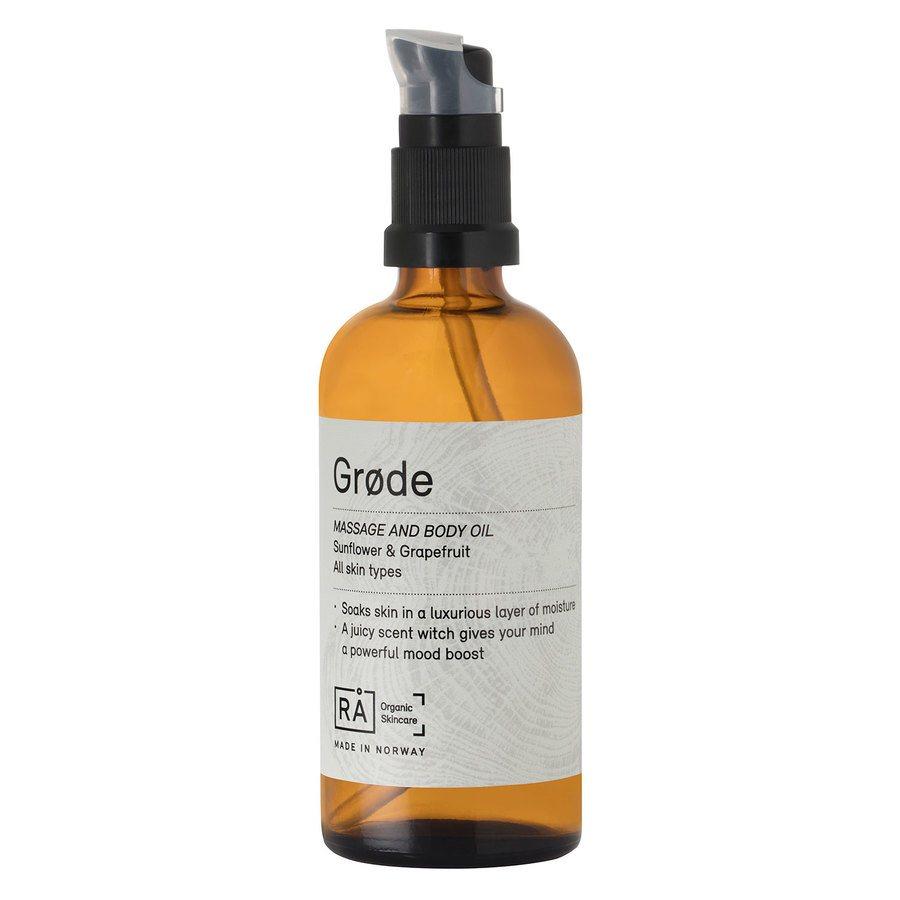 RÅ Organic Skincare Grøde Massage And Body Oil (100 ml)