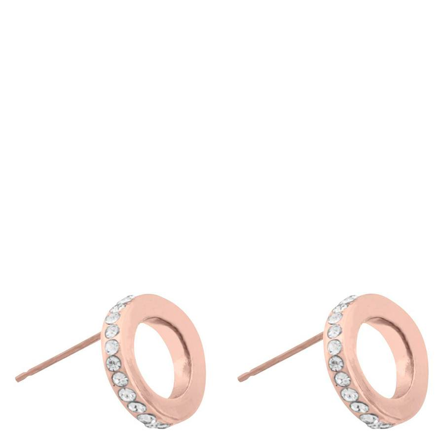 Snö Of Sweden Connected Earring, Rosé/Clear