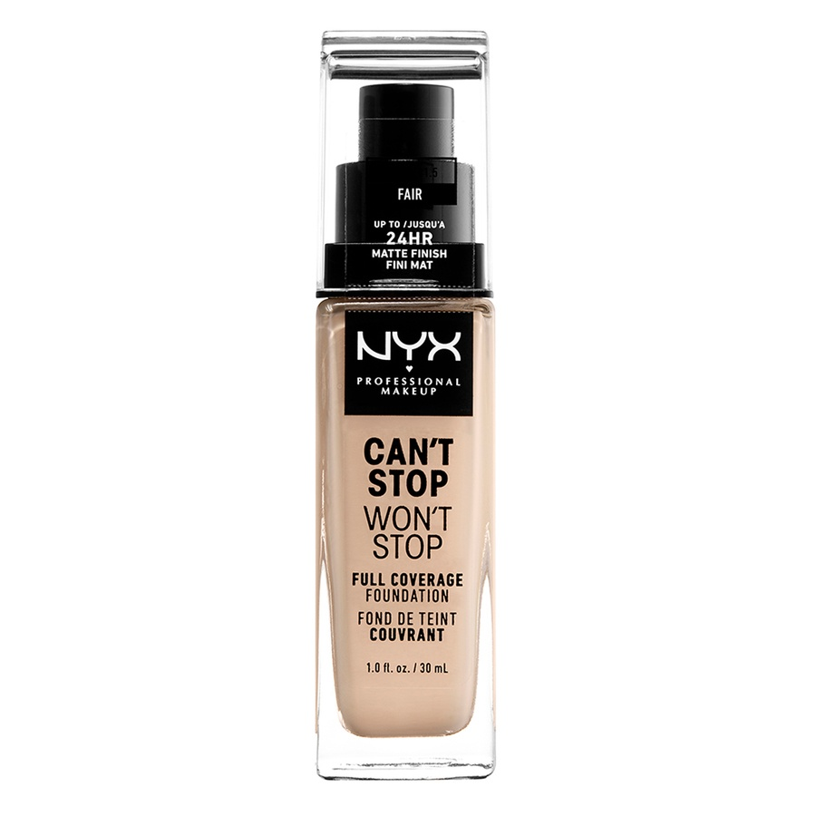 NYX Professional Makeup Can't Stop Won't Stop Full Coverage Foundation (30ml), Fair