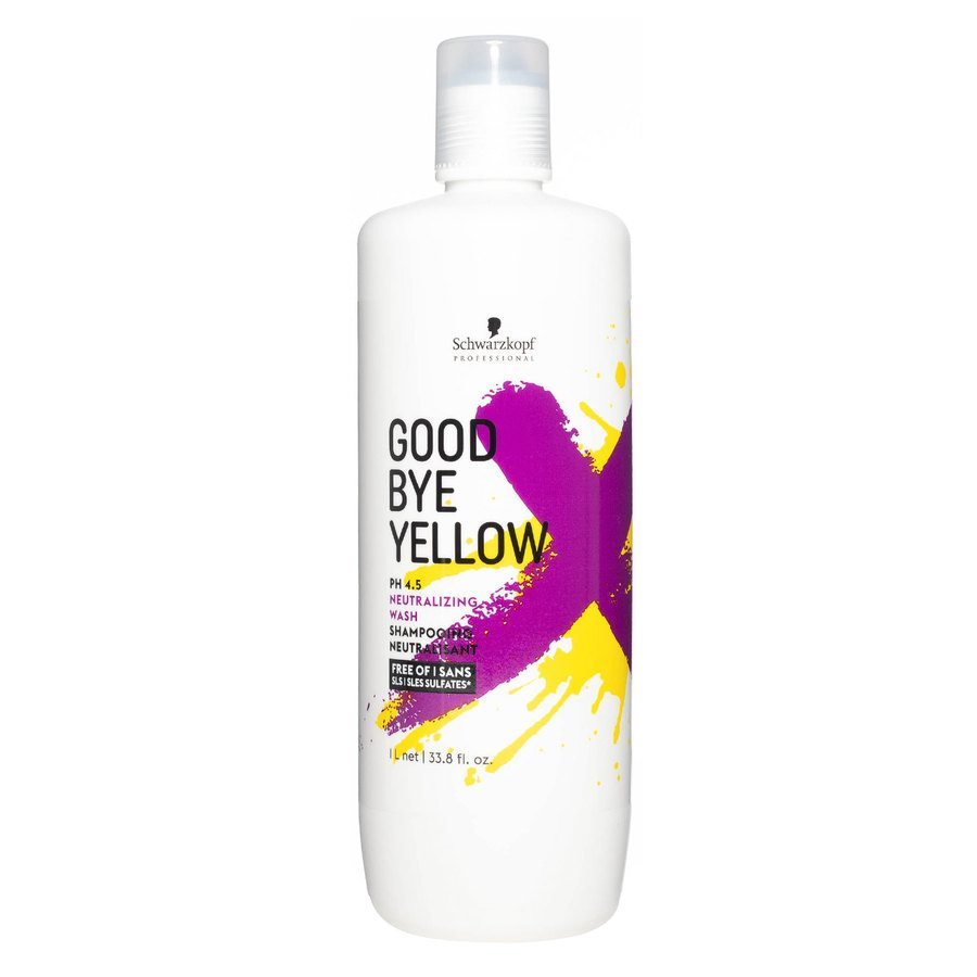 Schwarzkopf Goodbye Yellow Neutralizing Wash Shampoo (1000 ml)