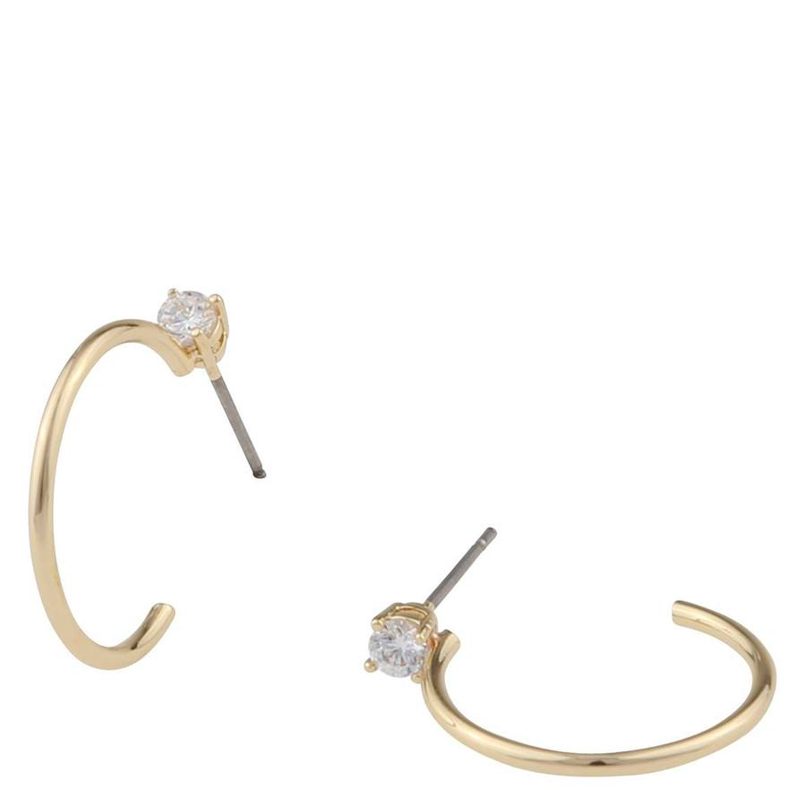 Snö Of Sweden Duo Ring Earring Gold/Clear
