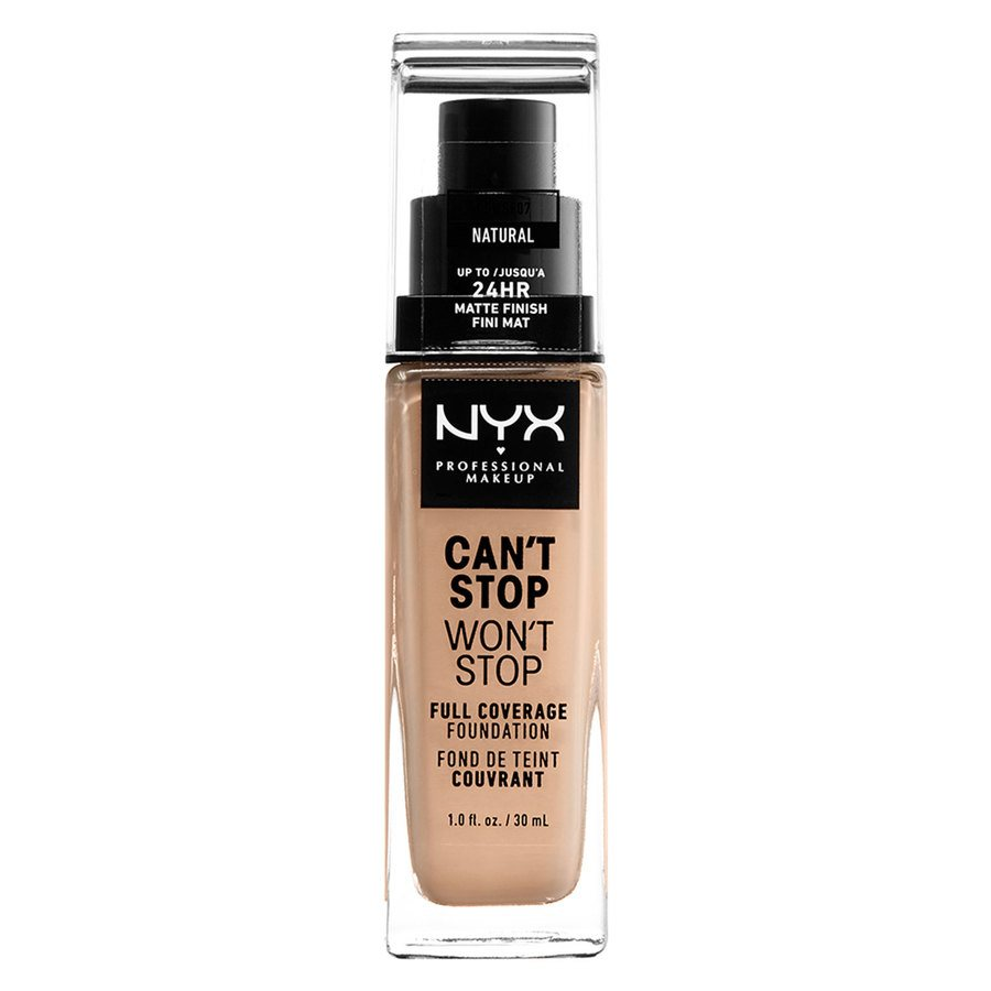 NYX Can't Stop Won't Stop Full Coverage Foundation 30ml, Natural