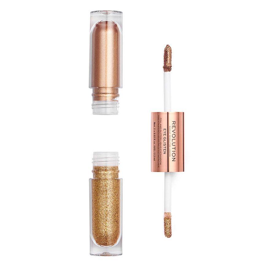 Makeup Revolution Eye Glisten Foil And Glitter Liquid Eyeshadow, Dreamland (2 x 2,2 ml)