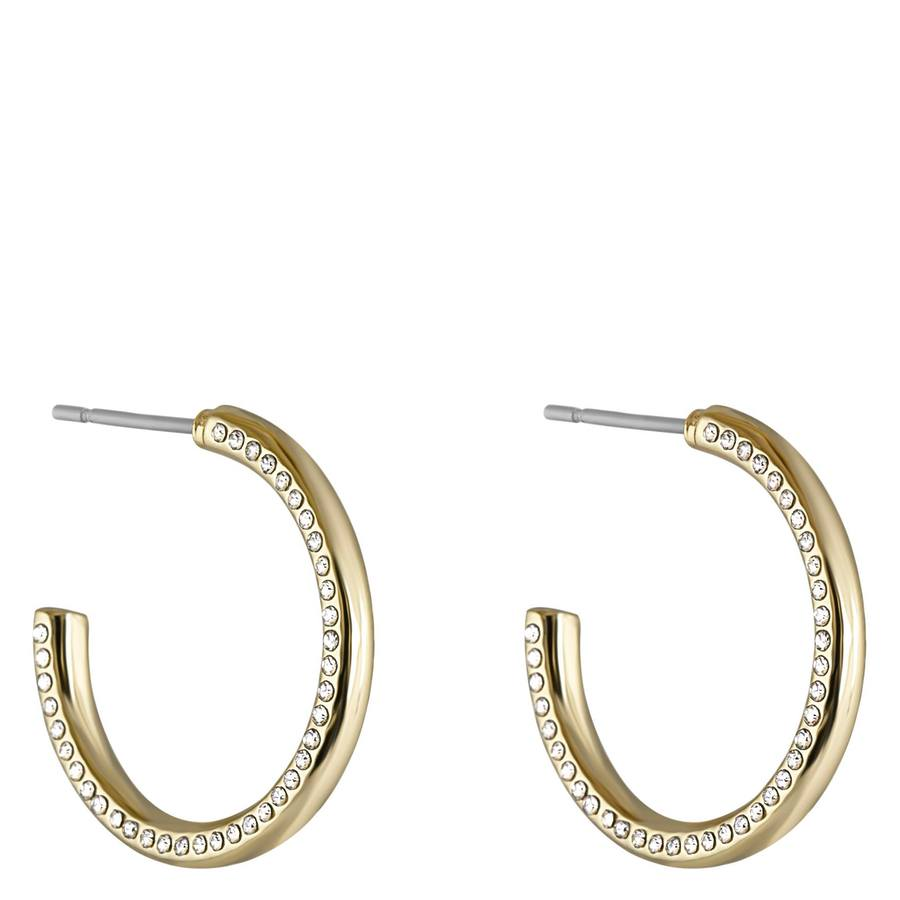 Snö of Sweden Adara Oval Earrings, Gold/Clear