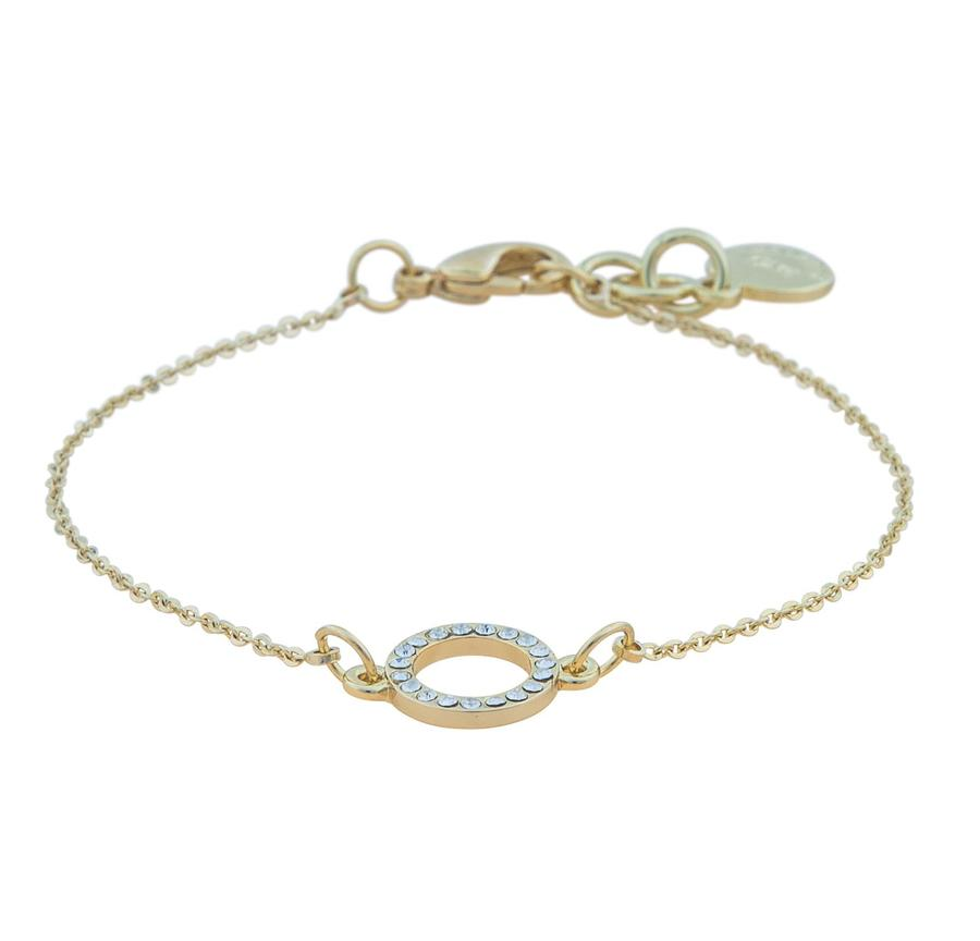 Snö Of Sweden Lily Chain Bracelet, Gold/Clear