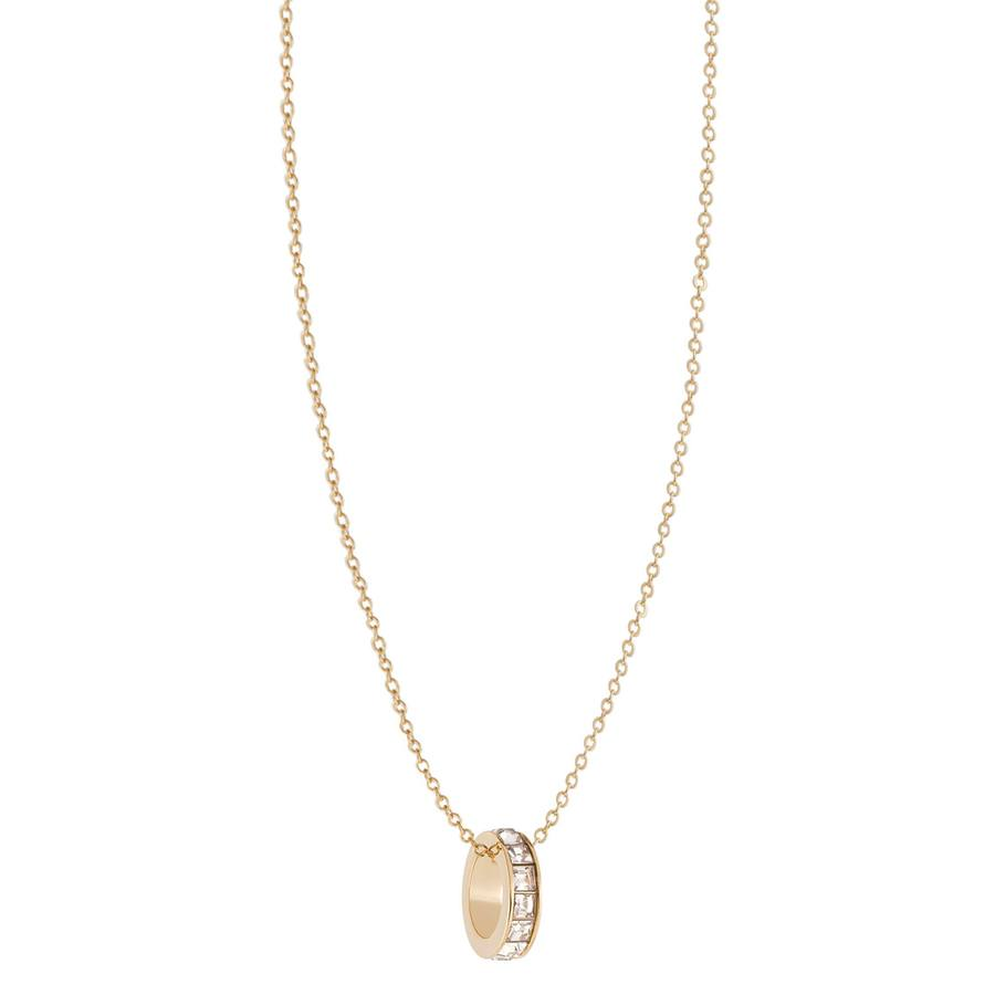 Snö of Sweden Trio Ring Pendant Neckless, Gold/Clear