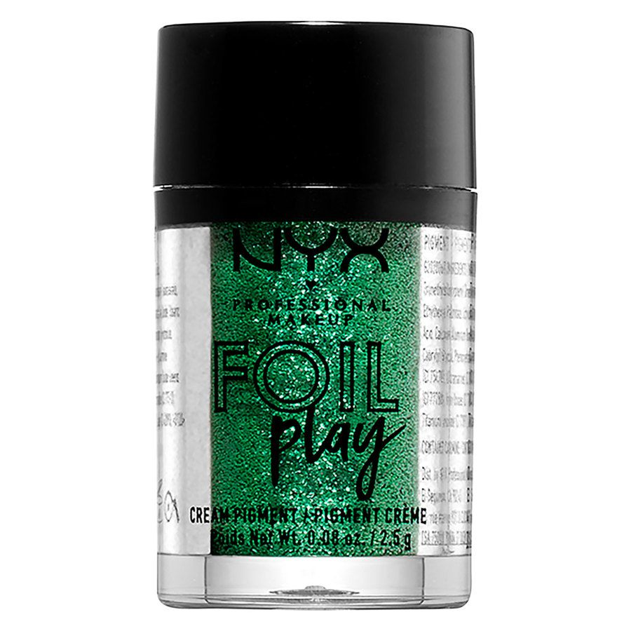 NYX Professional Makeup Foil Play Cream Pigment, Shade 06 Green (2,5 g)