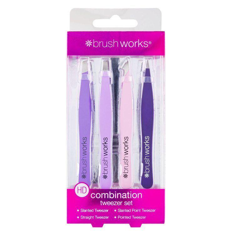 Brushworks HD Combination Tweezer Set, Mixed 5060226338504