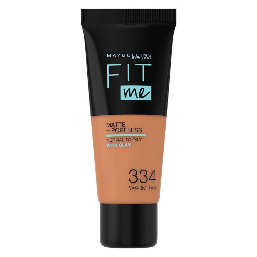 Maybelline Fit Me Matte + Poreless Foundation, Warm Tan (30 ml)