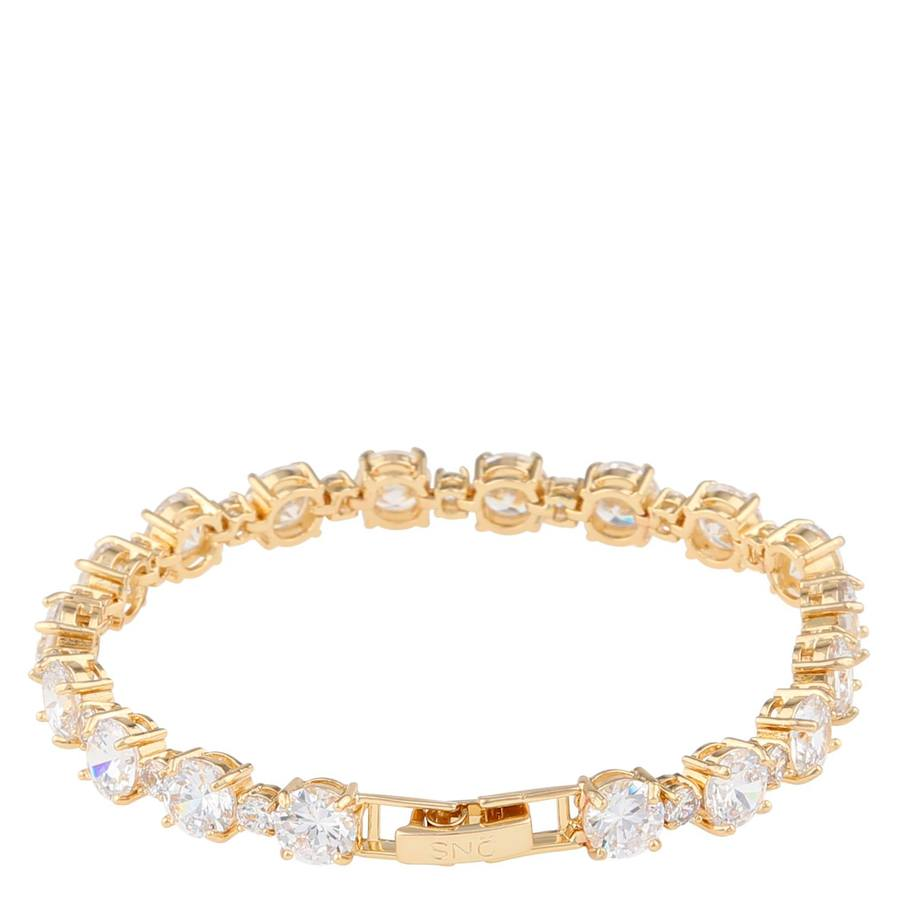 Snö Of Sweden Duo Bracelet, Gold/Clear (16-17 cm)