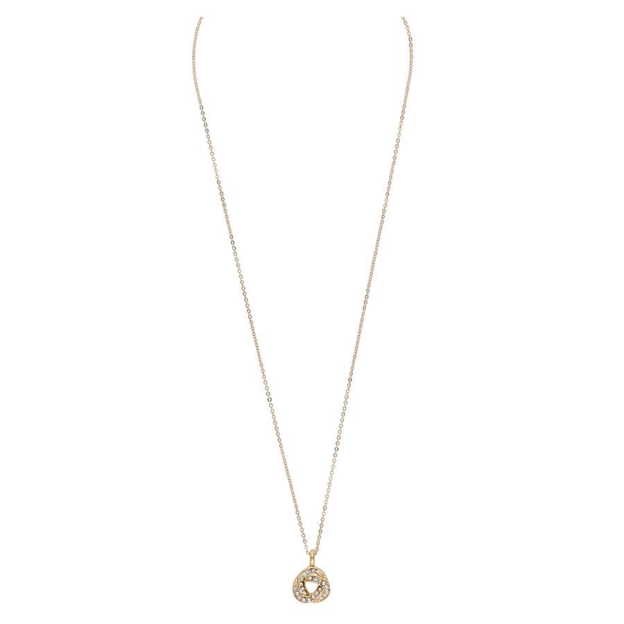 Snö Of Sweden Leonie Pendant Necklace, Gold/Clear (42 cm)