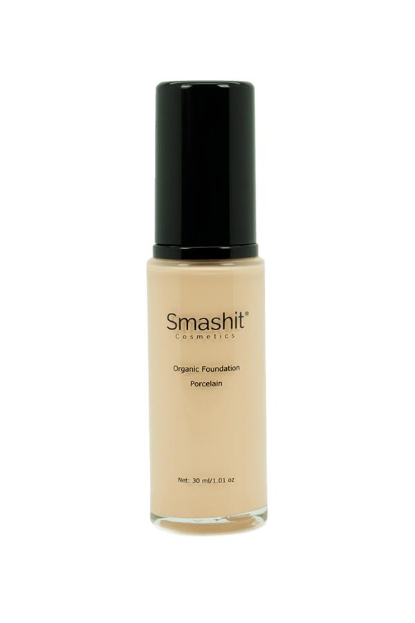 Smashit Cosmetics Organic Foundation, Porcelain (30ml)