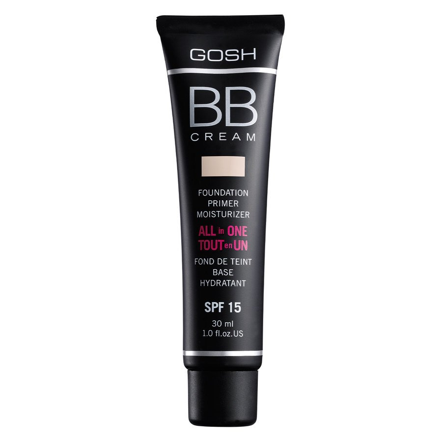 GOSH BB Cream Foundation, #001 Sand (30 ml)