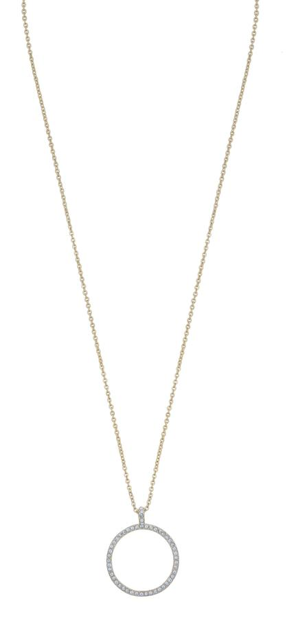 Snö Of Sweden Lily Pendant Necklace, Gold/Clear