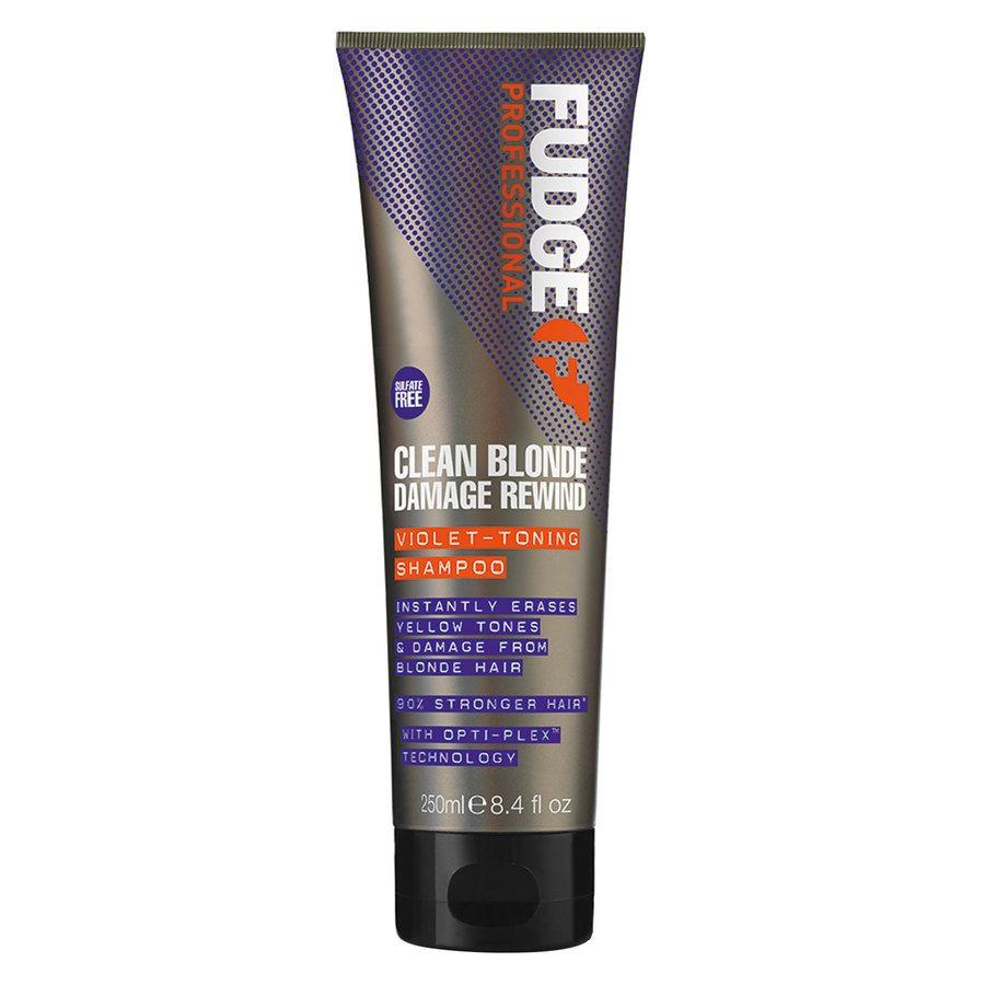 Fudge Clean Blonde Damage Rewind Violet Toning Shampoo (250 ml)