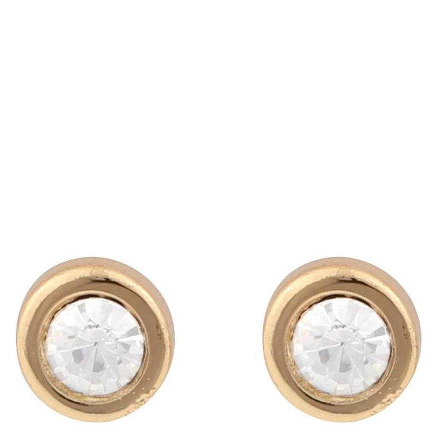 Snö Of Sweden Keira Small Stone Earring, Gold/Clear