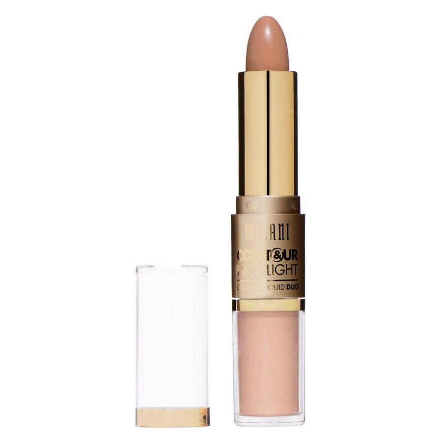 Milani Contour And Highlight Cream And Liquid Duo, Natural/Medium