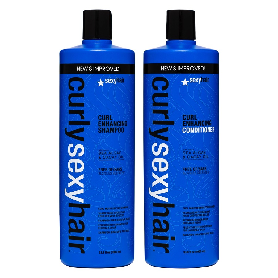 Curly Sexy Hair Shampoo and Conditioner (2 x 1000 ml) (Duo)