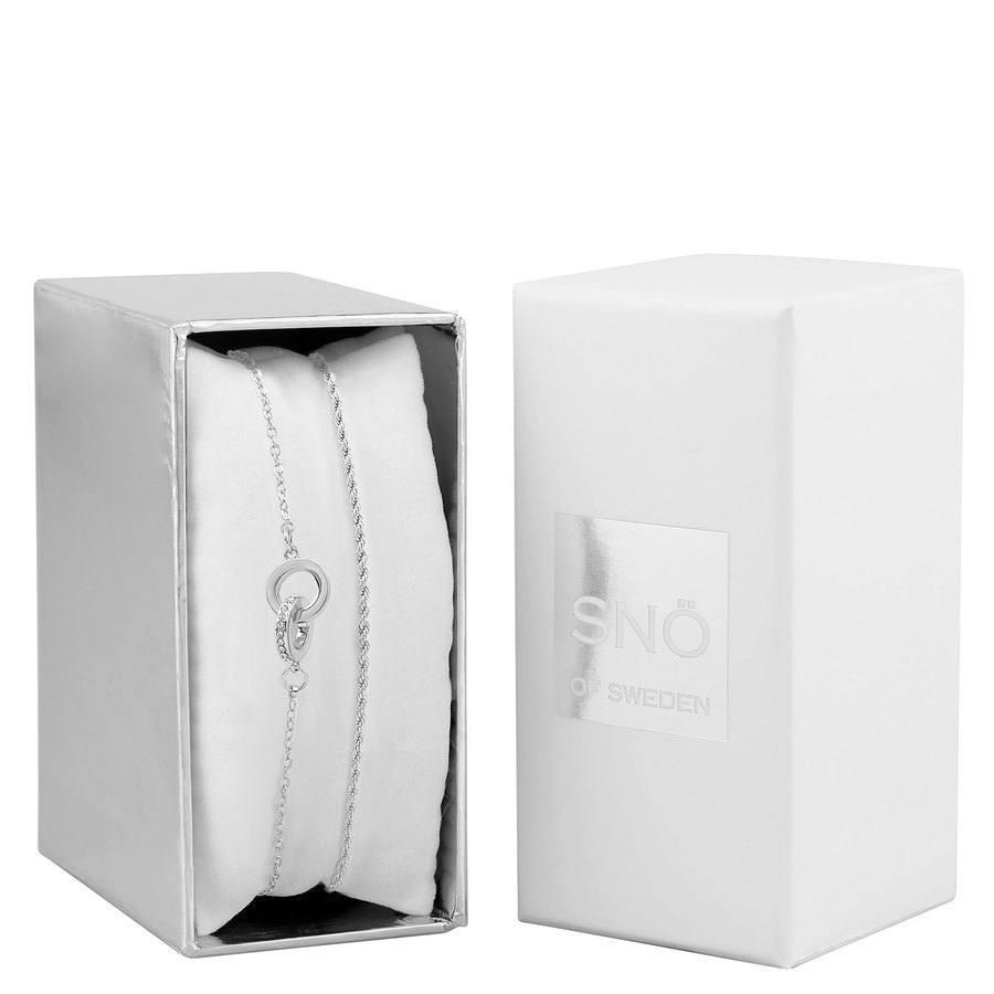 Snö of Sweden Crystal Royal Brace Set, Silver / Clear