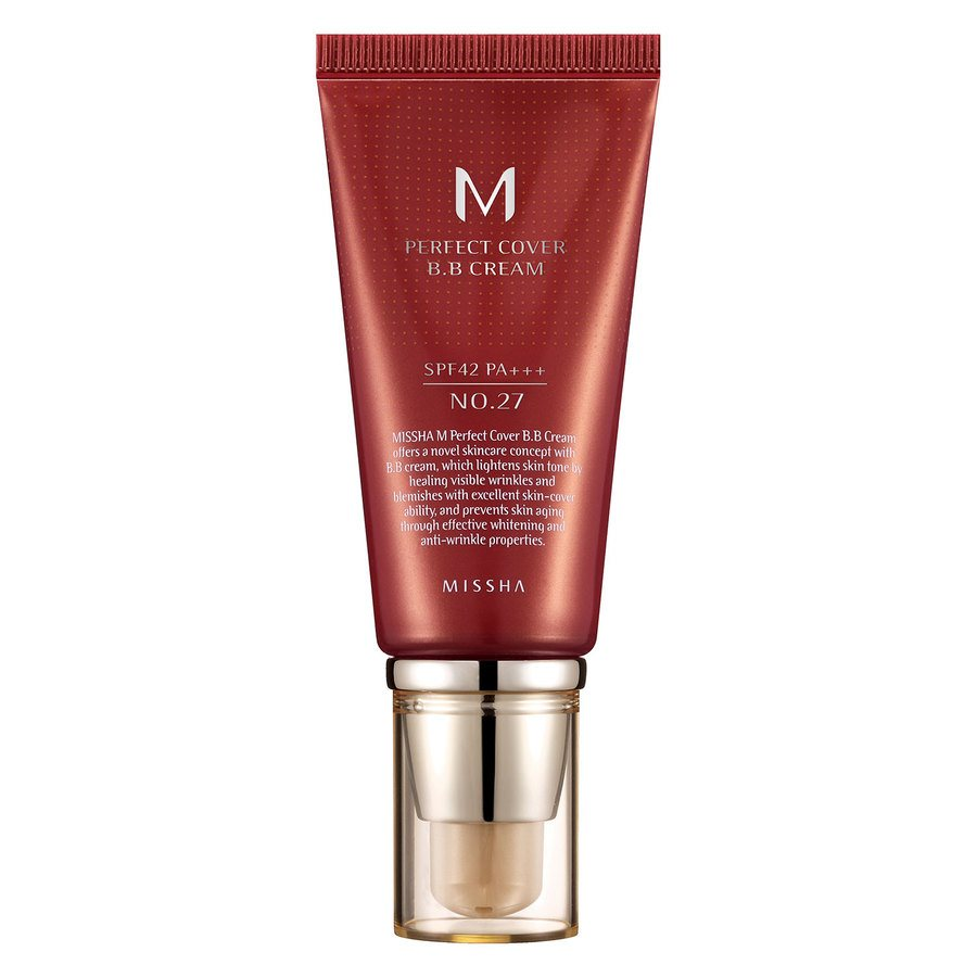 Missha M Perfect Cover BB Cream LSF42/Pa +++, No. 27 Honey Beige (50 ml)