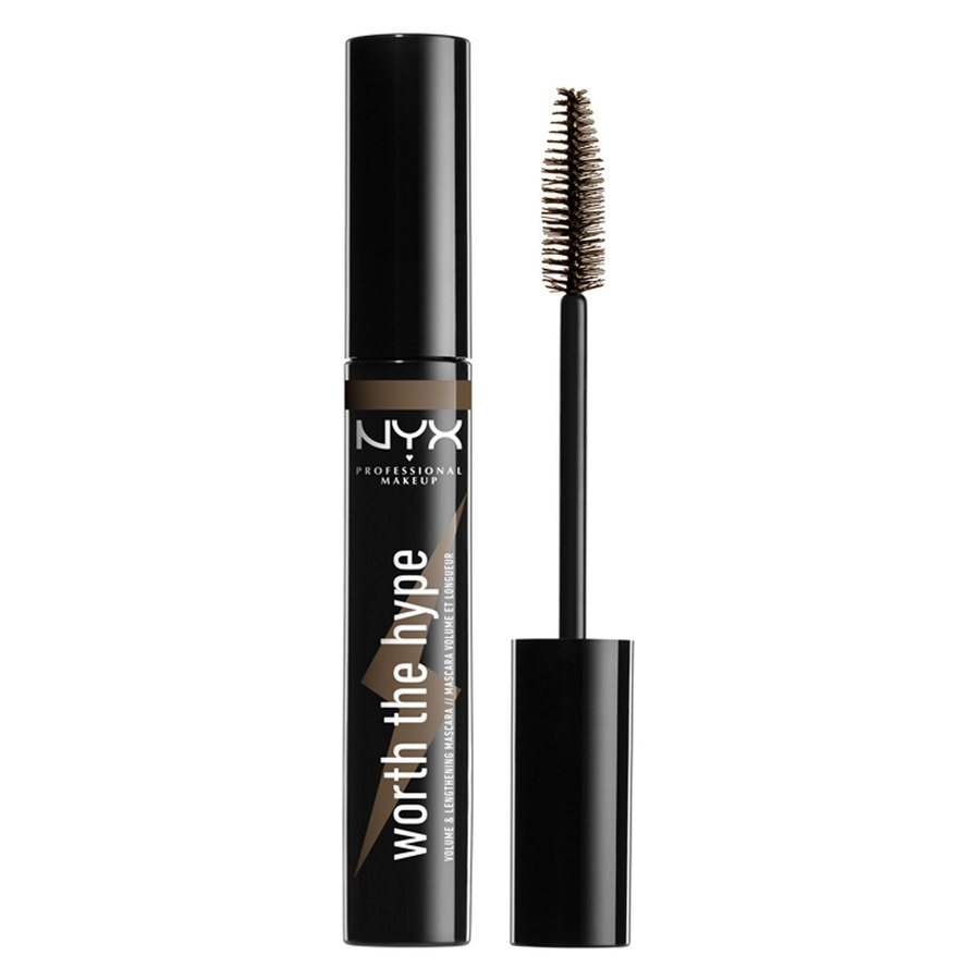 NYX Professional Makeup Worth The Hype Color Mascara, Shade 02 Brown (7 g)